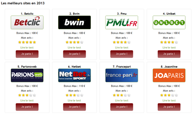 Aperçu du site comparatif-paris-sportifs.com